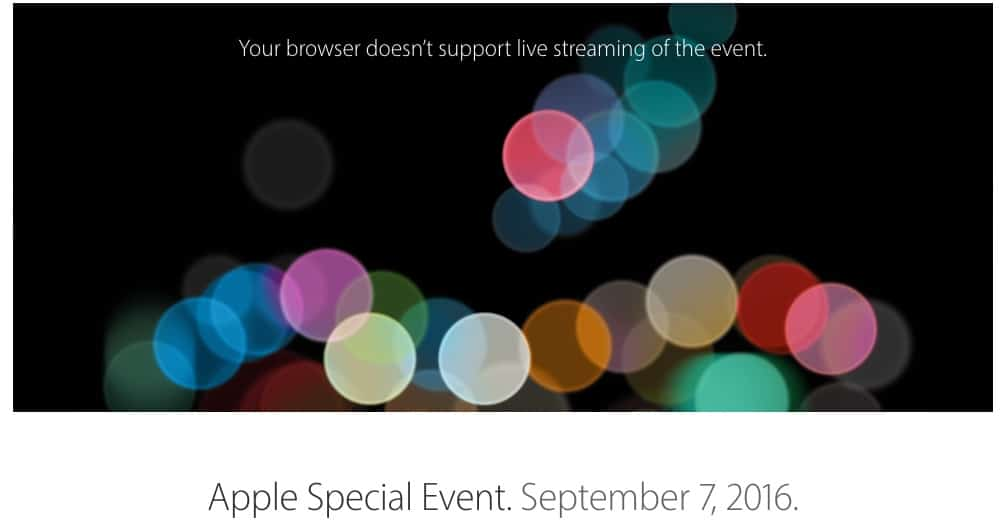 Apple Special Event. September 7, 2016