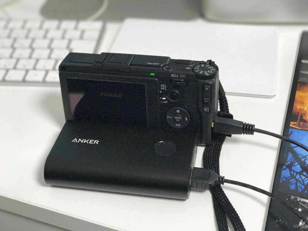 USBで充電可能