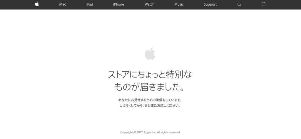 AppleStoreメンテナンス