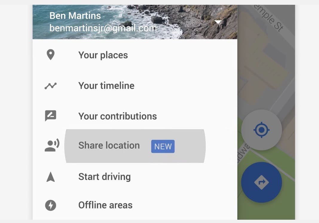 Google Map位置共有