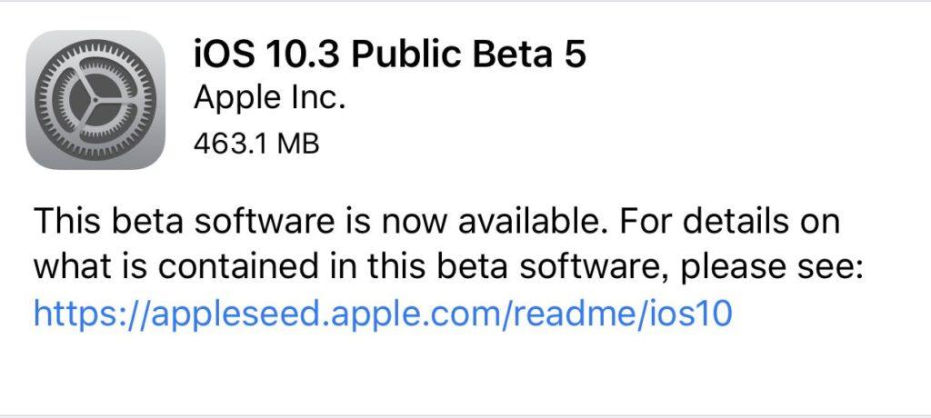 iOS10.3 PB5