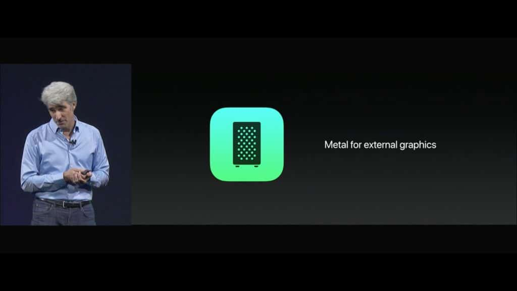 WWDC Metal for EX GPU